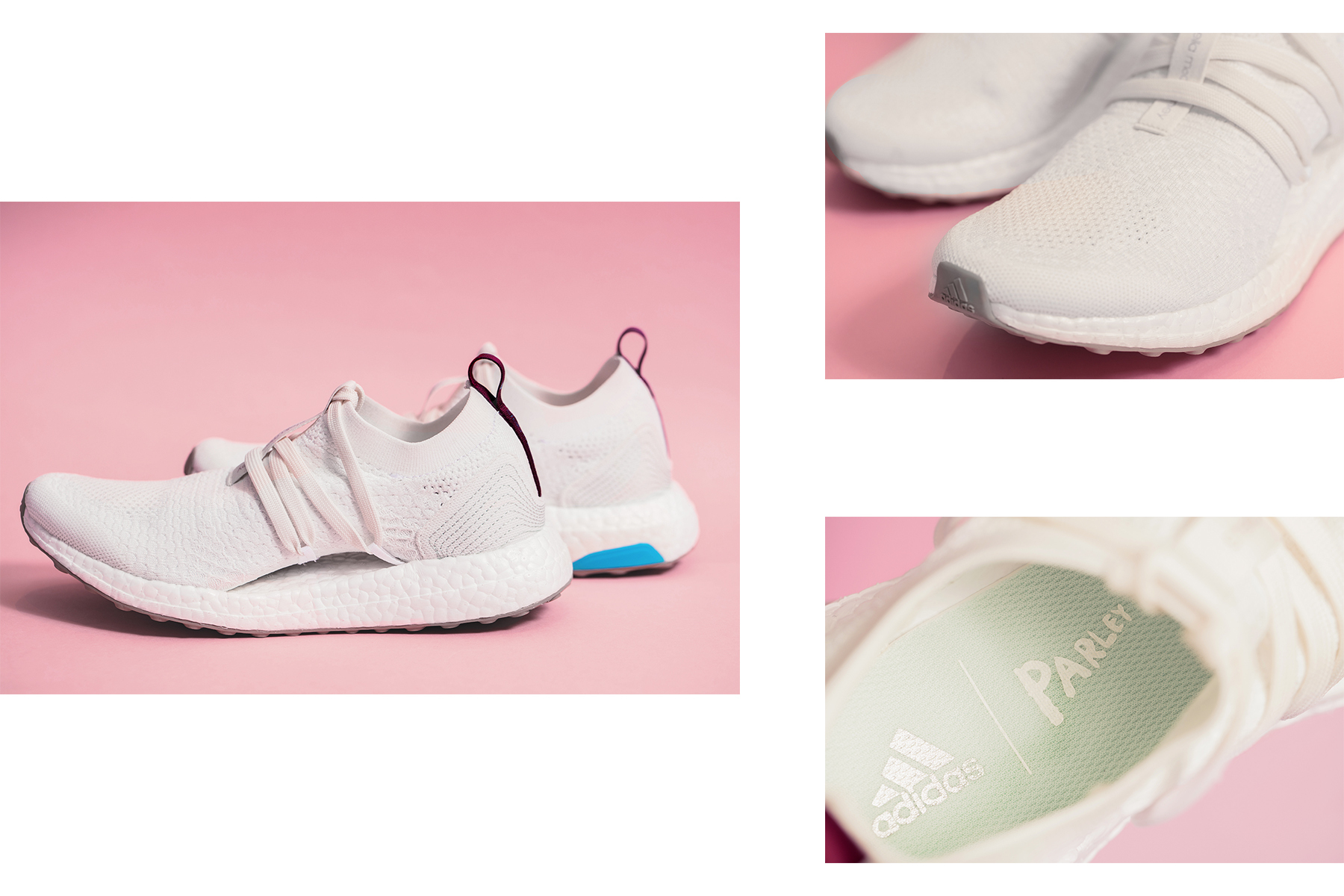 6516c041aa9 adidas by Stella Mccartney s coming Ultra BOOST X running shoe. adidas x  Parley for the ...